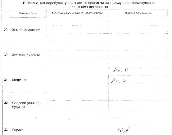 Задекларированное имущество Богдана Подубинского