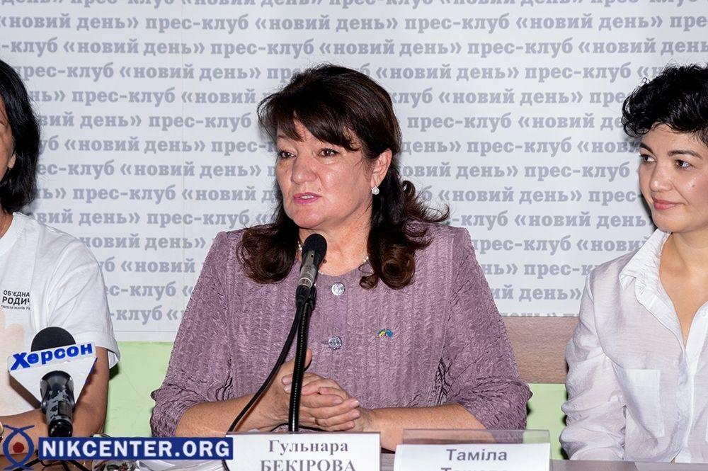 Гульнара Бекирова, супруга крымскотатарского активиста Эдема Бекирова