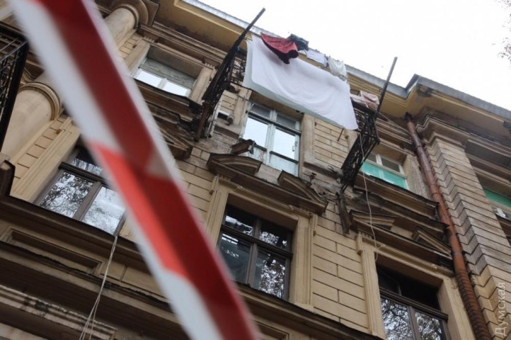 В центре одессы рухнул балкон новости одессы.