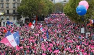 В Париже прошли протесты против однополых браков. Шесть человек задержаны полицией