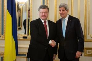 Порошенко и Керри скоординировали свои действия по Донбассу и Крыму