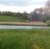 В Винницкой области загорелся пригородный поезд с пассажирами