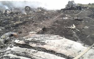 В сети появилось видео с места падения малазийского Боинга 777