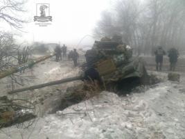 Украинская артиллерия разгромила танковое подразделение сепаратистов