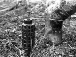 В зоне АТО украинский военный подорвался на растяжке