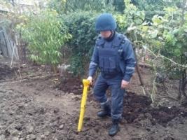 В Николаеве саперы уничтожили  ручную гранату, найденную во дворе частного домовладения