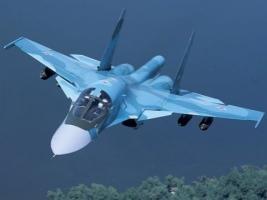 На границе с Херсонской областью замечен российский бомбардировщик Су-24