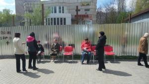 Одесситы боролись против незаконной застройки сидячим пикетом