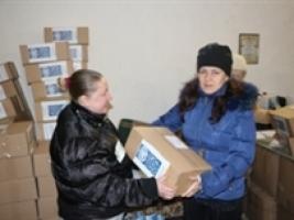 В Одессе раздали помощь от ООН вынужденным переселенцам