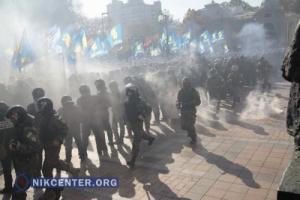 Милиция отпустила 17 человек, задержанных в ходе вчерашних беспорядков под Верховной Радой
