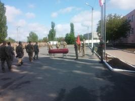 В Николаеве попрощались с морпехом, погибшим под Широкино
