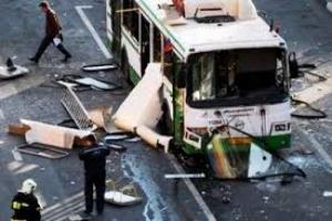 В Донецке из-за попадания снаряда в автобус погибли 2 человека