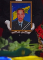 Одесситы похоронили майора, погибшего в районе Новоазовска