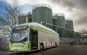 В Британии презентовали первый в мире «био-автобус»