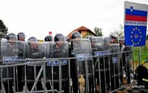 Словения для защиты от беженцев отгораживается заграждением от Хорватии
