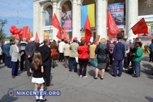 Херсонские первомайские митинги прошли под усиленной охраной милиции (ФОТО, ВИДЕО)