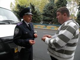 В Николаеве правоохранители и общественники проверяли работу водителей маршруток
