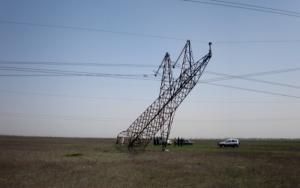 На границе с Крымом взорвали еще две опоры ЛЭП