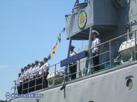 В Одессе боевой корабль торжественно переименовали в честь погибшего бойца