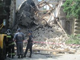 В центре Одессы рухнула стена памятника архитектуры (ФОТО)