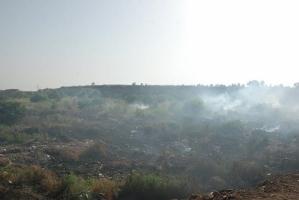 В Николаеве дым от пожара на свалке накрыл целый район (ВИДЕО)