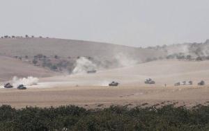Турция перебросила на территорию Сирии танки Leopard и несколько бронемашин