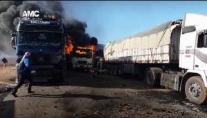 Российская авиация разбомбила гуманитарный конвой в Сирии. Есть погибшие
