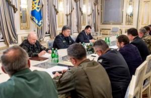Порошенко обсудил с главами силовых ведомств террористическую угрозу и пропускной режим на Донбассе