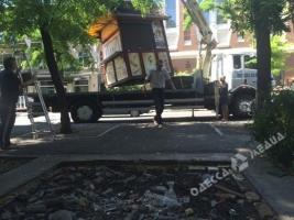 Одессу очищают от незаконных ларьков