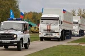 В Украину без сопровождения сотрудников Красного креста въехал гуманитарный конвой из России