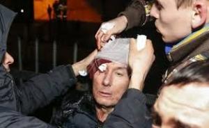 Юрия Луценко избил Беркут. Журналисты нашли доказательства