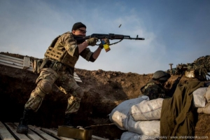Ночью террористы обстреляли позиции АТО