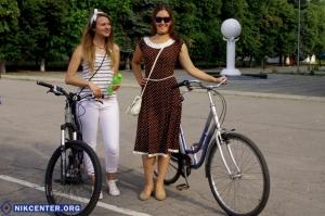 В Херсоне прошел «Велопарад  девушек». ФОТОРЕПОРТАЖ