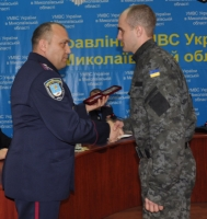 Николаевского нацгвардейца наградили медалью «Защитника Отечества»