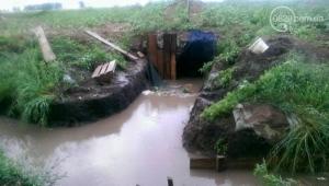 Из-за ливня под Мариуполем затопило блиндажи украинских военнослужащих