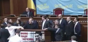 В ВР «свободовцы» заблокировали трибуну, требуя создания комиссии по коррупции