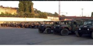 В Украину прибыла вторая партия военных бронемашин из США