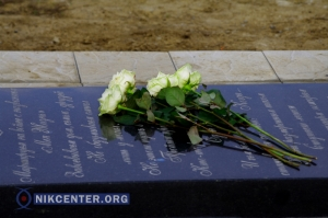 Херсонским журналистам представили первую очередь мемориала погибшим в АТО