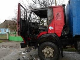 На Николаевщине загорелся «КамАЗ», водителя госпитализировали