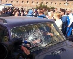 Во Львове родственники военных заблокировали дорогу и требуют ротации
