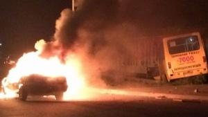 Во Львове в результате ДТП легковушка сгорела дотла