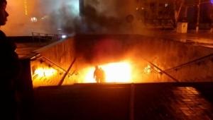 В центре Херсона горит подземный переход