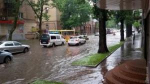 Проливные дожди затопили Одессу
