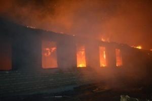 В Одесской области сгорела казарма воинской части