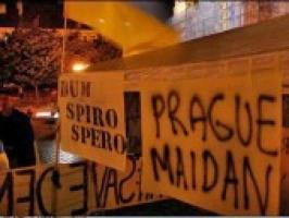 В Праге началась двухмесячная акция протеста в поддержку Украины