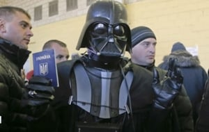 Дарт Вейдер не смог проголосовать из-за маски