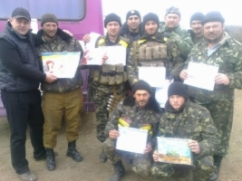 Николаевский 19-й батальон теробороны празднует год со дня создания