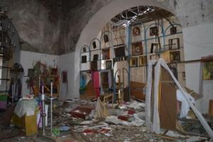 Боевики разрушили православную церковь в Луганской области