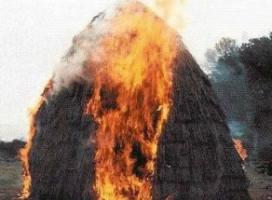 На Николаевщине горел сеновал