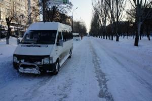 Несмотря на снегопад, маршрутки в Николаеве работают в плановом режиме